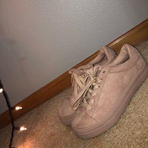 Velvet Light Pink Sneakers